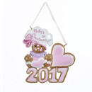 Baby's 1st Christmas Gingerbread Girl Ornament For Personalization