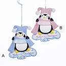 Baby's 1st Christmas Penguin Ornaments For Personalization 2 Assorted