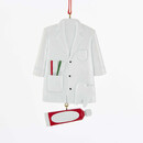 Dentist Coat With Toothpaste Dangle Ornament For Personalization