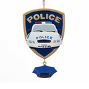 Police Car Badge What Ornament For Personalization