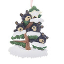Bear Family Of 4 On Tree Ornament For Personalization