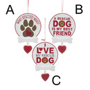 Rescue Dog Sign Ornament For Personalization