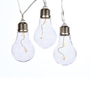 Battery Operated Led Warm White  Transparent Edison Bulb Fairie Light Set