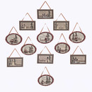 Rectangle/ Oval Plaque Ornaments 12 Assorted