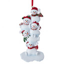 Stacked Snowmen Family Of 5 Ornament For Personalization