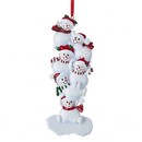 Stacked Snowmen Family Of 6 Ornament For Personalization
