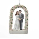 Wedding Couple Under Rose Arch Ornament For Personalization