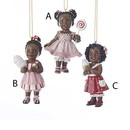 African American Candy Girl Ornaments