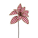Red And White Checkered Flower Pick