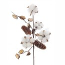Cotton With Pinecone Branch