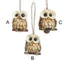 Wood And Sisal Owl Ornament