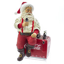 Coke Santa With Cooler