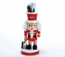Kurt Adler 15-inch Coca-cola(r) Hollywood Nutcracker With Polar Bear Hat