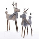 Small Fabric Deer Ornaments