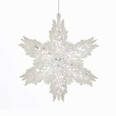 White And Clear Snowflake Ornament