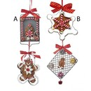 Gingerbread On Tray With Cookie Cutter Ornaments