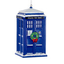 Doctor Who(tm) Tardis With Wreath Ornament