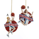 Basketball Boy And Girl Ornaments