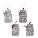 Wooden Mason Jar With Sayings Ornaments