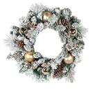 24-inch Battery-operated 30-light Led Flocked Wreath