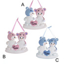 Baby's 1st Christmas Snow Bear Boy And Snow Bear Girl Twins Ornament For Personalization