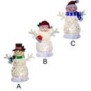 Battery-operated Warm White Led Snowman
