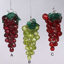 Beaded Grape Ornaments 3 Assorted