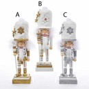 Hollywood(tm) Gold, Silver And White Nutcrackers