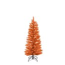 Pre-lit Slim Orange Christmas  Tree