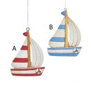 Red, White And Blue Sailboat Ornaments