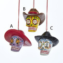 Day Of The Dead Skull With Cowboy Hat Ornaments