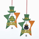 Irish Star With Hat Ornaments, 2 Assorted