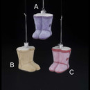Noble Gems(tm) Short Button Boot Glass Ornament