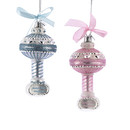 Baby Rattle Ornament 2 Assorted