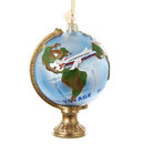 Travel Globe With Airplane Ornament