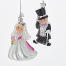 Bride And Groom Ornaments 2 Piece