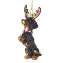 Noble Gems(tm) Dachshund In Antlers Ornament
