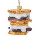 Noble Gems(tm) Glass S'mores Ornament
