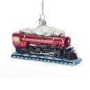 Glass Locomotive Ornament