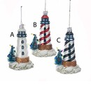 Lighthouse Glass Ornament