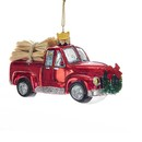 Glass Truck With Hay Ornament