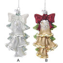Noble Gems(tm) Bells Glass Ornaments, 2 Assorted