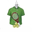 Tennis Outfit Glass Ornament