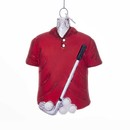 Golf Outfit Glass Ornament