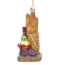 Bread And Wine Glass Ornament