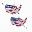 Noble Gems(tm) Glass America Stars And Stripes Ornament
