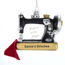Noble Gems(tm) Sewing Machine Glass Ornament