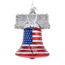 Noble Gems(tm) Liberty Bell Glass Ornament