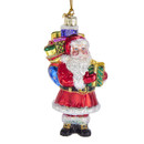 Noble Gems(tm) Glass Santa With Gifts Ornament
