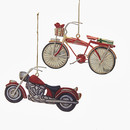 2d Bike & Motorcycle Ornament 2 Assorted